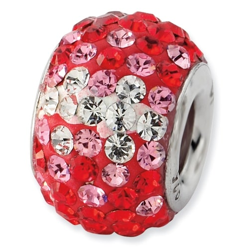 Sterling Silver Reflections Red Graduated Crystal Bead