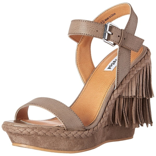 Not Rated Womens Roaring Ruby Open Toe Casual Platform Sandals TAUPE Size 100