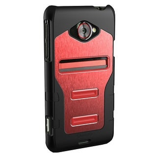 Qmadix Metalix Snap On Case for HTC Evo 4G LTE (Red)