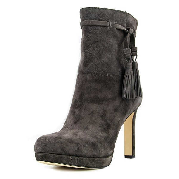 Via Spiga Bristol Women Round Toe Suede Gray Boot