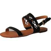 Tommy Hilfiger Womens Lunia Open Toe Casual Slingback Sandals - black ll - 8.5