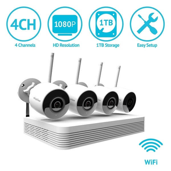 Shop Laview 4 Channel 1080p Wi Fi Auto Pairing Nvr Security System With 4 1080p Bullet Wi Fi