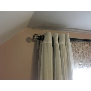 Aurora Home MIX and MATCH CURTAINS Blackout and Tulle Lace Sheer ...