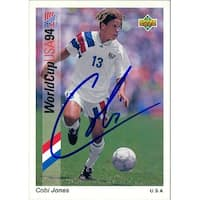 Signed Jones Cobi 1993 Upper Deck Soccor Card autographed