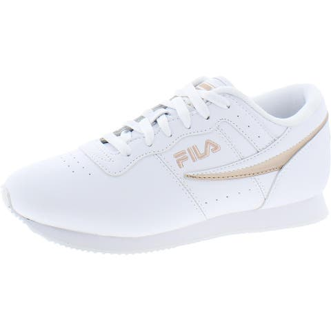 Fila Womens Machu Casual Sneakers Faux Leather Lace-Up