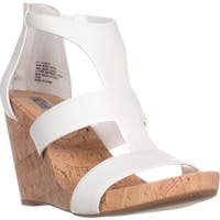 I35 Lilbeth T-Strap Wedge Sandals, Bright White