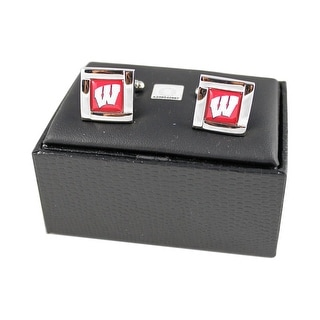 NCAA Wisconsin Badgers Square Cufflinks Gift Box Set