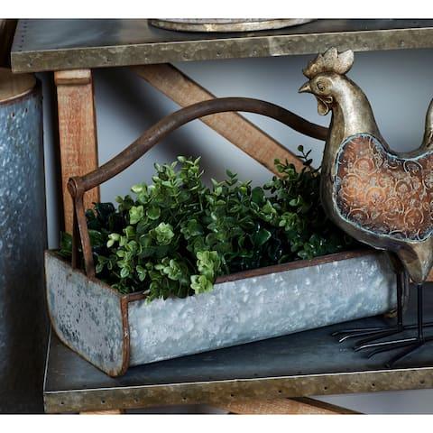 Grey Iron Farmhouse Planter (Set of 2) - 18 x 12 x 16