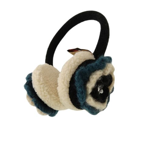 American Rag Women's Winter Fashion Earmuff with Flower - One Size Fits Most