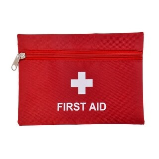 Outdoor Camping PVC Rectangle Emergency First Aid Rescue Safety Storage Bag Red
