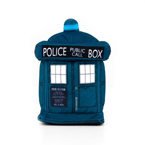 Doctor Who 4.5-Inch Plush TARDIS and 13th Doctor Enamel Collector Pin - Blue