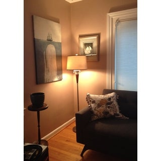 Carson Carrington Aalborg Brushed Nickel Accent Floor Lamp
