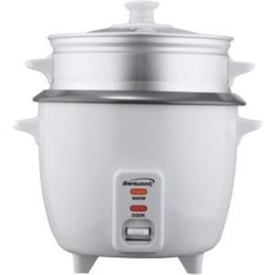 Brentwood Ts-600S Appliances Rice Cooker With Steamer Capacity For 5 Cups & 400W, White