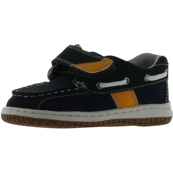 Jumping Jacks Sailor Boat - navy oiled leather/gold trim