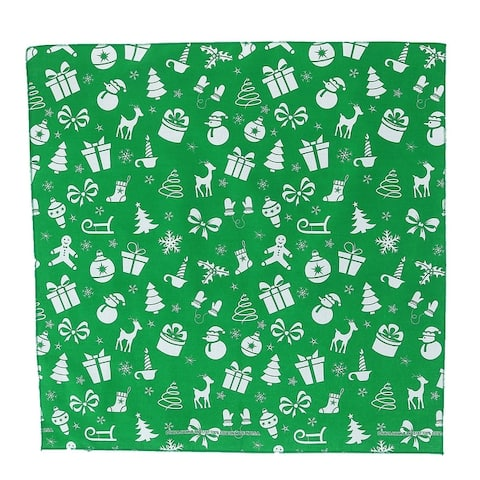 CTM® Variety Christmas Pattern Holiday Print Bandana - one size