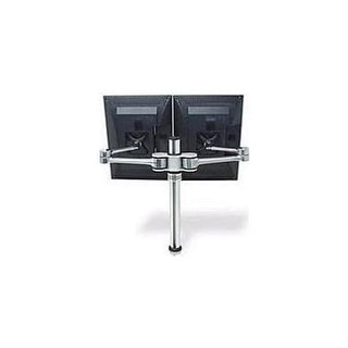 Atdec Vf-At-D Dual Display Desk Mount (Up To 27″ And 17.6Lbs Displays) With Two Mounting Options, Brushed Aluminum