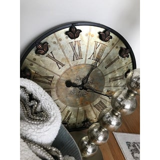 Uttermost 'Artemis' Brushed Aluminium Wall Clock
