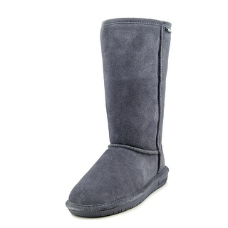 Bearpaw Emma Tall Women Round Toe Suede Gray Winter Boot