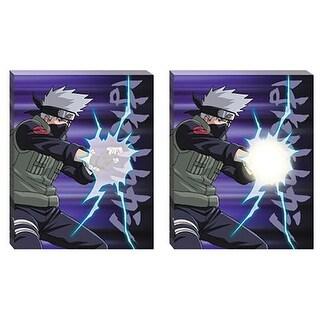 """Naruto Shippuden Kakashi Chidori 20""""x16"""" Light-Up Canvas Wall Art - Multi"""