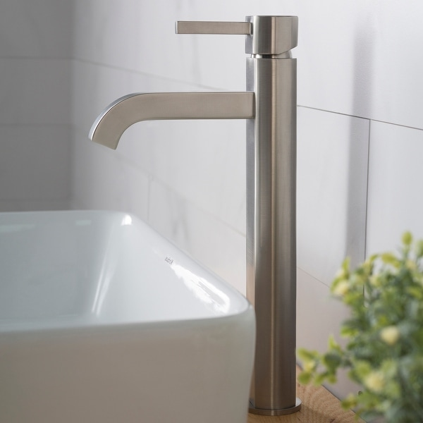KRAUS Ramus Tall Single Handle 1-Hole Vessel Bathroom Faucet