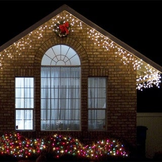 ICELITE Solar Icicle String Lights For Holiday Or Party