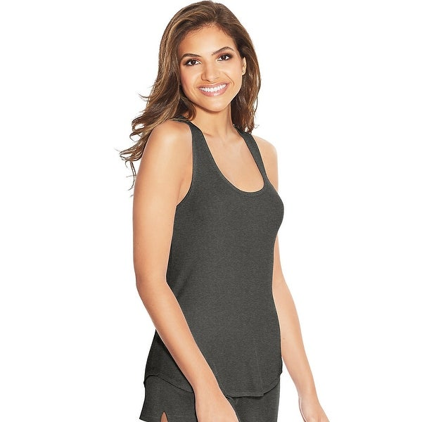 Maidenform Rib Tank - Color - Heather Charcoal - Size - L