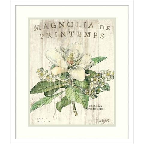 Magnolia de Printemps by Sue Schlabach Framed Wall Art Print