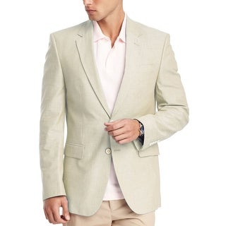 Tommy Hilfiger Ethan Trim Fit Mens Natural Sportcoat 38 R 38R 2-Buttons