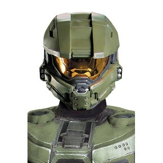 Disguise Master Chief Adult Full Helmet - Green