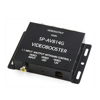 Car Black Metal Shell 1 Input to 4 Output RCA AV Multi Video Amplifier Splitter