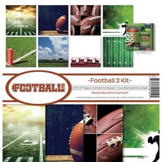 "Reminisce Collection Kit 12""X12""-Football 2"