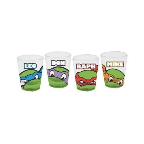Shop Tmnt Teenage Mutant Ninja Turtles Names Set Of 4 Shot Glasses Overstock 18681450