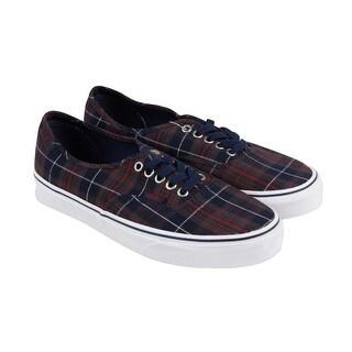 Vans Authentic Mens Blue Canvas Lace Up Lace Up Sneakers Shoes