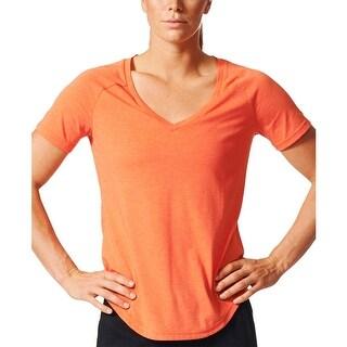 Adidas Womens Shirts & Tops Heathered V-Neck - S
