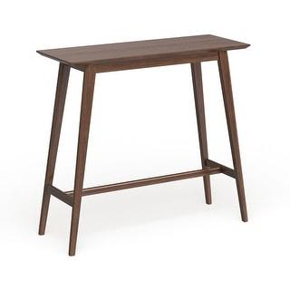 Link to Carson Carrington Viborg Walnut Finish Wood Bar Table Similar Items in Dining Room & Bar Furniture