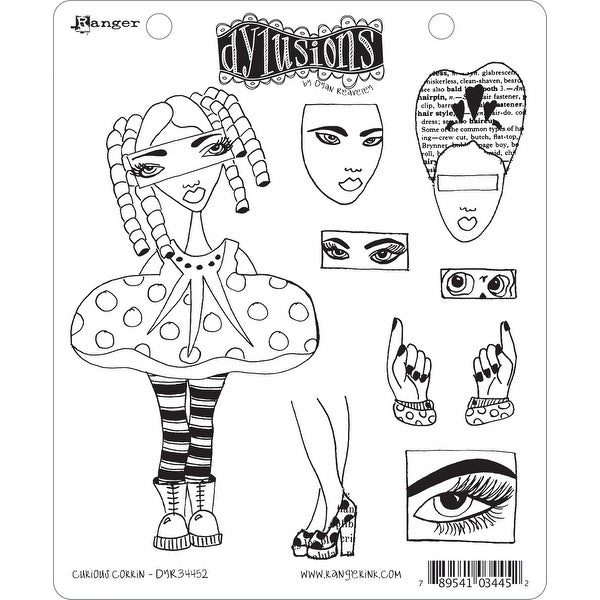 """Dyan Reaveley's Dylusions Cling Stamp Collections 8.5""""X7""""-Curious Corrin"""