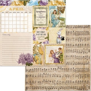 """Banner Year Double-Sided Cardstock 12""""X12""""-April"""