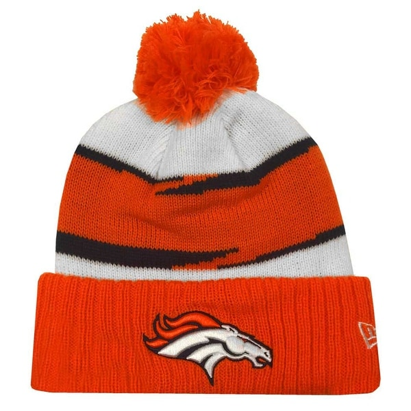 3a6eee26 New Era 2018 NFL Denver Broncos Thanksgiving Stocking Knit Hat Beanie  Winter POM