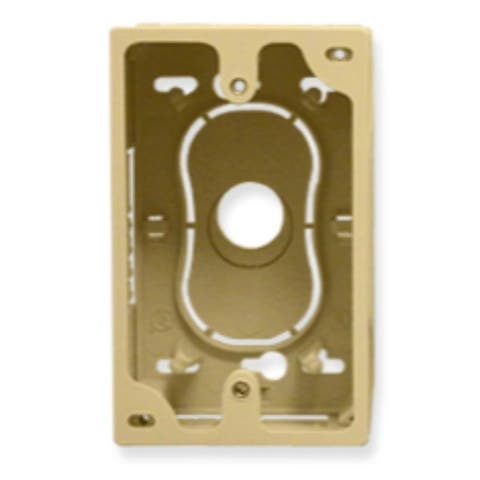 Junction Box, 1-Gang, Ivory