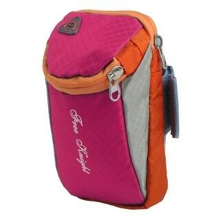 FreeKnight Authorized Sports Running Nylon Arm Bag Phone Pack Holder Fuchsia