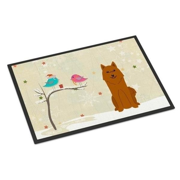 Carolines Treasures BB2494MAT Christmas Presents Between Friends Karelian Bear Dog Indoor or Outdoor Mat 18 x 0.25 x 27 in.