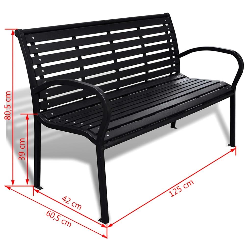"vidaXL Garden Bench Steel Porch Patio Park Path Chair Outdoor Deck Seating  - 10"" x 10"" x 10"""