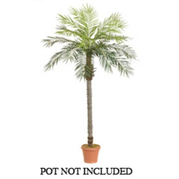 Set of 2 Artificial Silk Date Palm Trees 7' - N/A