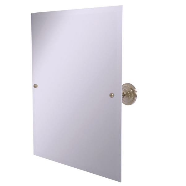 Allied Brass Frameless Rectangular Tilt Mirror with Beveled Edge