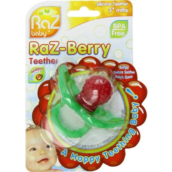 RaZbaby Raz-Berry Silicone Teether for 3+ Months 1 ea