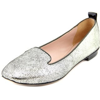 One 13E328 Women Round Toe Leather Loafer