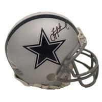 bbcff7f99 Dak Prescott Autographed Mississippi State Bulldogs Chrome Mini Helmet BAS
