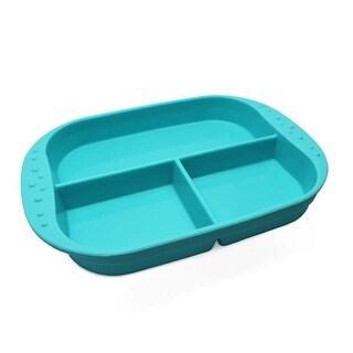 KinderVille Silicone Divided Plates For Kids And Toddlers