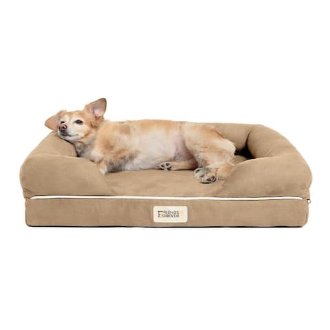 Hastings Pet Couch with Solid Memory Foam by Friends Forever