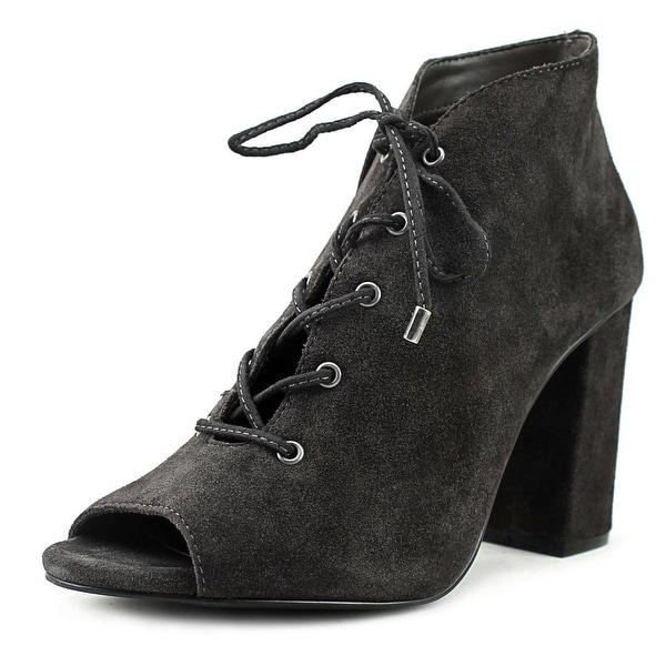 Very Volatile Zeno Women Open-Toe Leather Gray Bootie